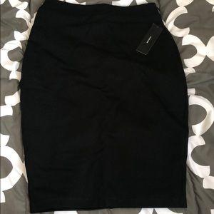 Women's Black Work Skirt